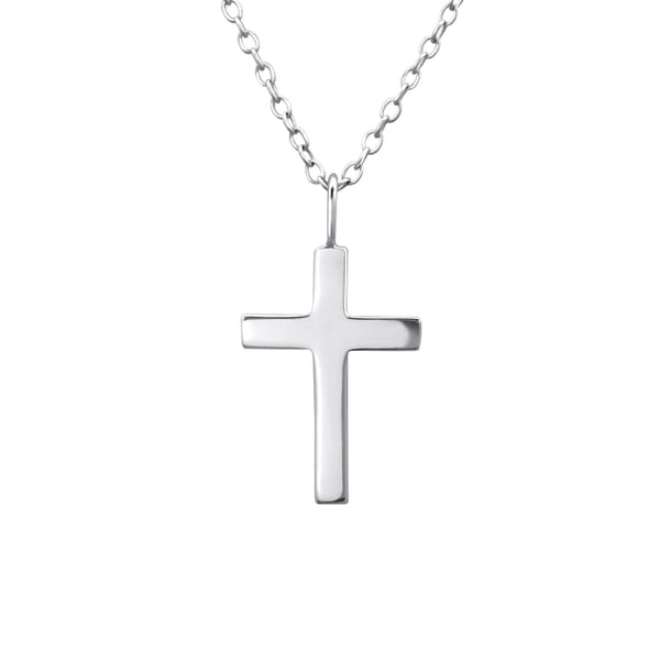 Traditional Cross Sterling Silver Necklace - I love silver jewellery