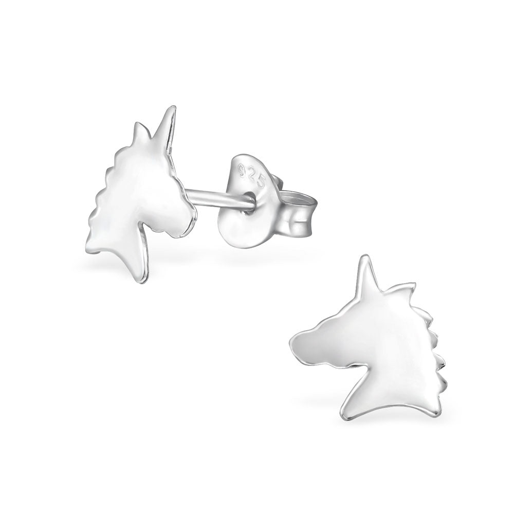 Mystic Unicorn Sterling Silver Stud Earrings - I love silver jewellery
