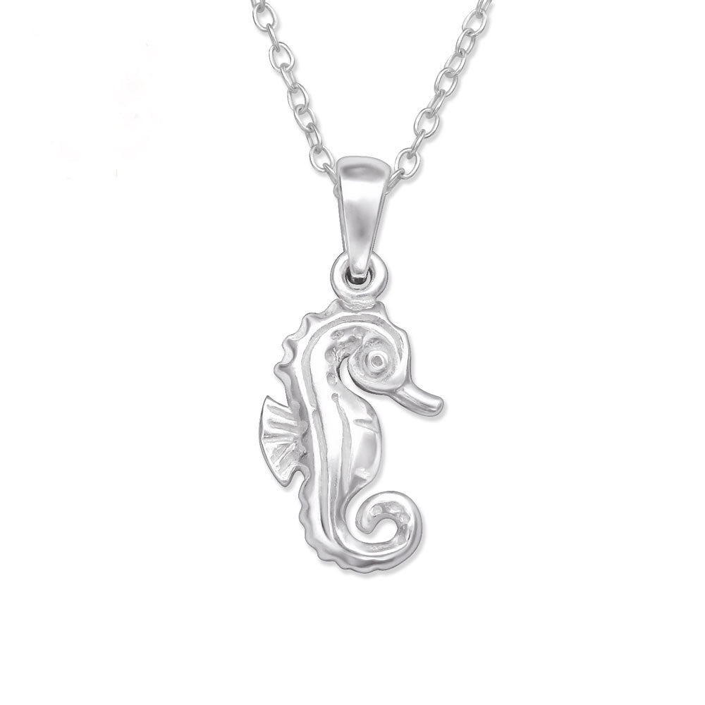 Seahorse Sterling Silver Necklace - I love silver jewellery