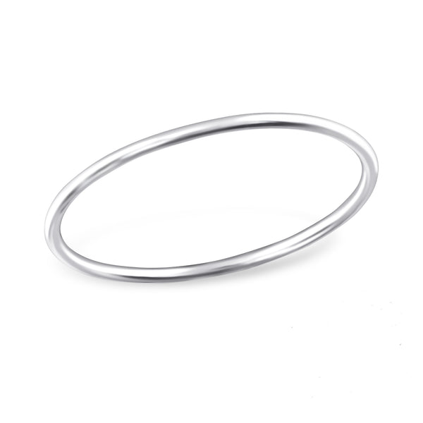 Simple Skinny Midi Sterling Silver Ring - I love silver jewellery