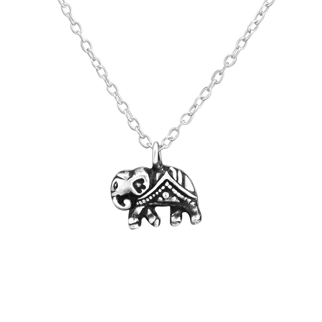 Vintage Elephant Mini Sterling Silver Necklace - I love silver jewellery