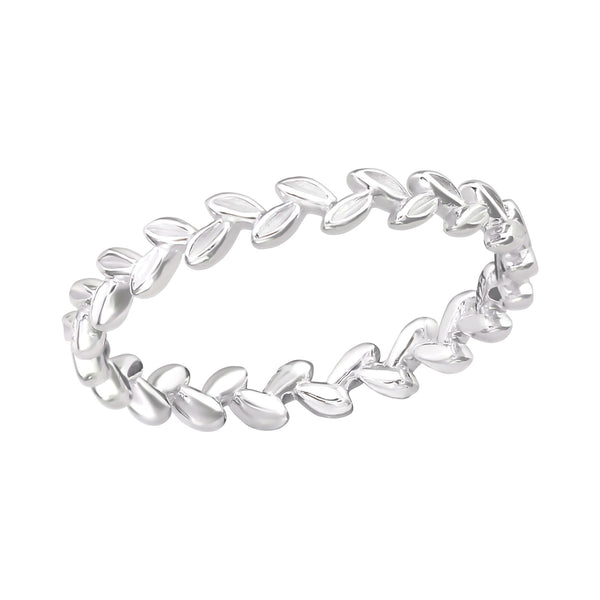 Branch Sterling Silver Band Stacking Ring 3mm - I love silver jewellery