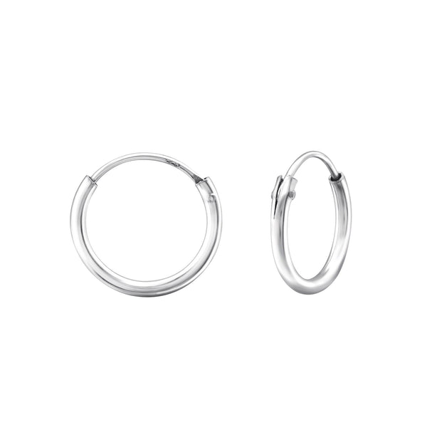Sterling Silver Sleeper Hoop Earrings - 12mm/14mm/20mm - I love silver jewellery