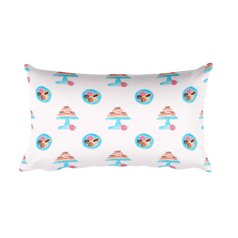 Donut Platter Yourself Rectangular Pillow - PrintfullyYours