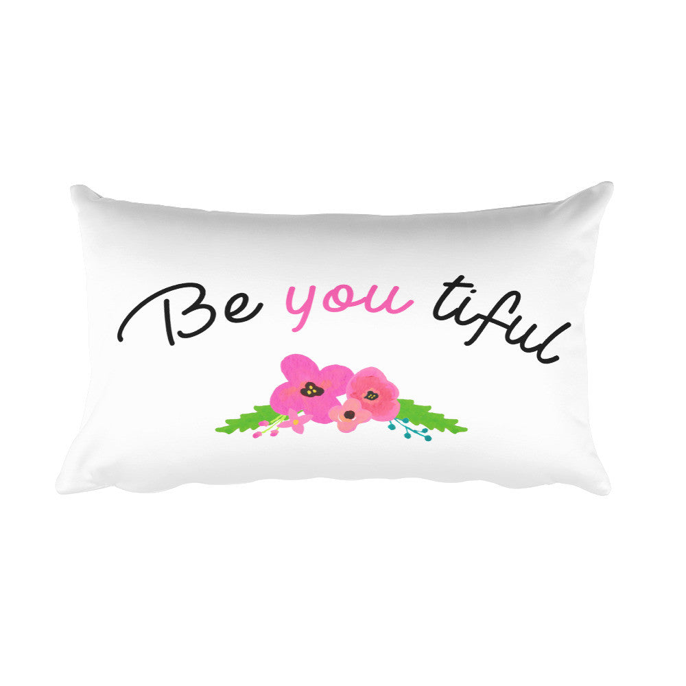 Be You Tiful Rectangular Pillow - PrintfullyYours