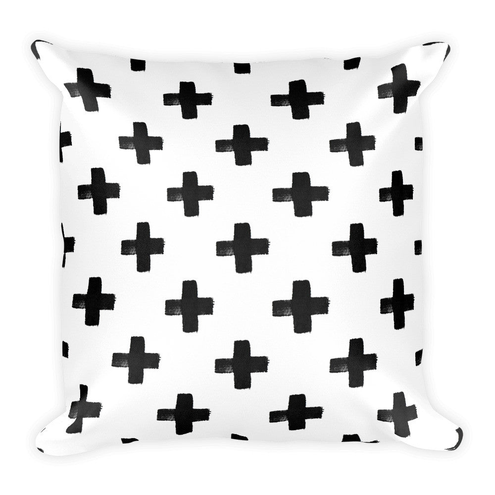 Cross Ways Square Pillow - PrintfullyYours