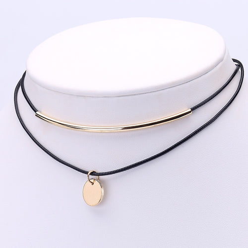 Boho Choker Gold with Coins Pendant