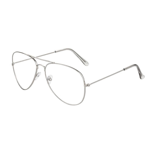 Clear Lens Aviators Sunglasses