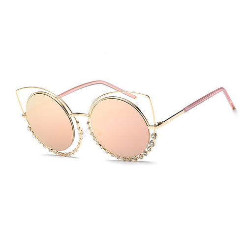 Diamante Cat Eye Sunglasses