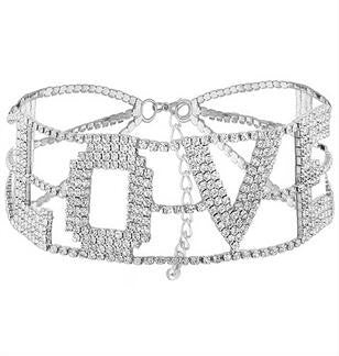 Diamante LOVE Choker