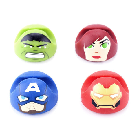 Avengers GumiDrop Cable Holder 4-Pack Marvel | Mimoco