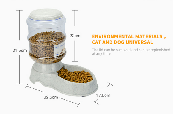 Automatic Pet Food & Water Dispenser