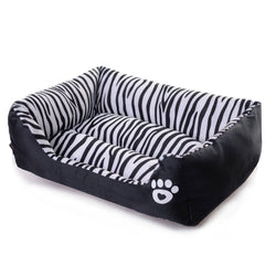 Zebra print orthopedic sofa