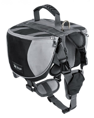 Dog Backpack With Adjustable Saddle Bags