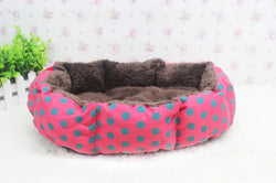 Soft Round Fleece Bed For Small Dogs
