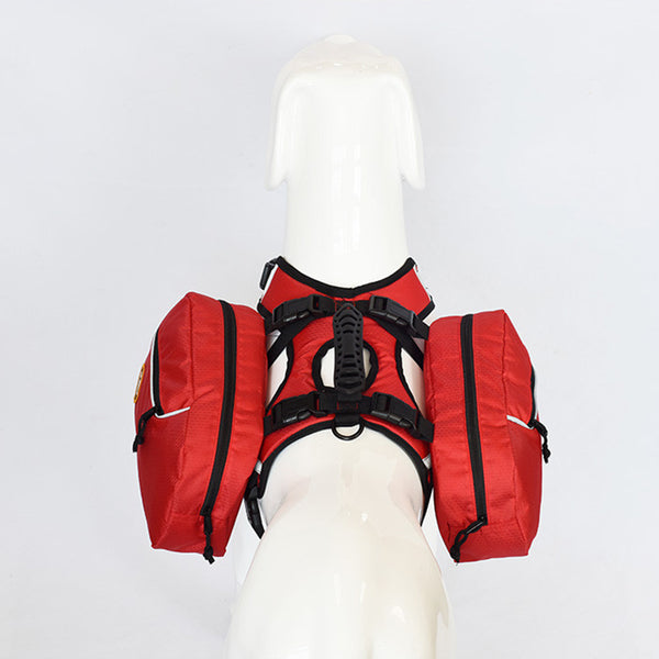 Reflective Pet Harness With SaddleBags