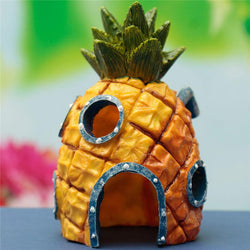 Cartoon Pineapple Cave Ornament For Aquarium