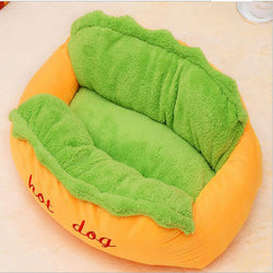 Hot Dog Snoozer Pet Bed