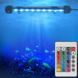 "7"" Remote Control LED Submersible Aquarium Light"