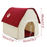 Red & Green Den-Like Dog House