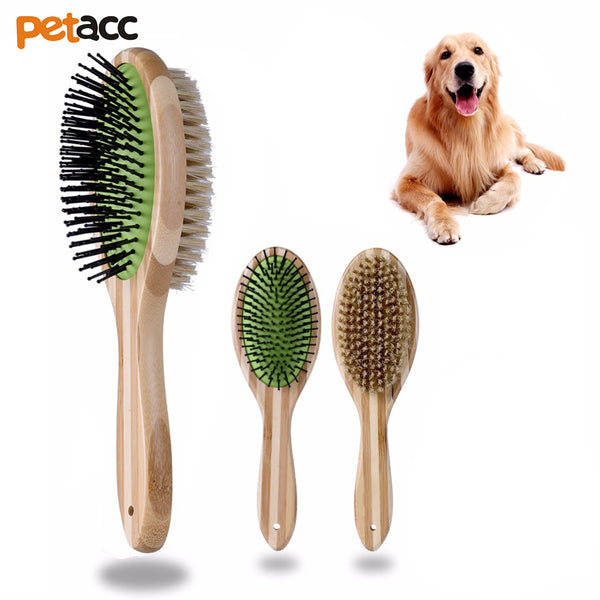 Bamboo Dual Sided Pet Brush
