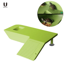 Floating Reptile Platform With Feeding Trough