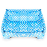 Waterproof Rectangle Polka Dot Dog Bed