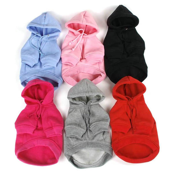 Fleece Solid Color Pet Hoodie