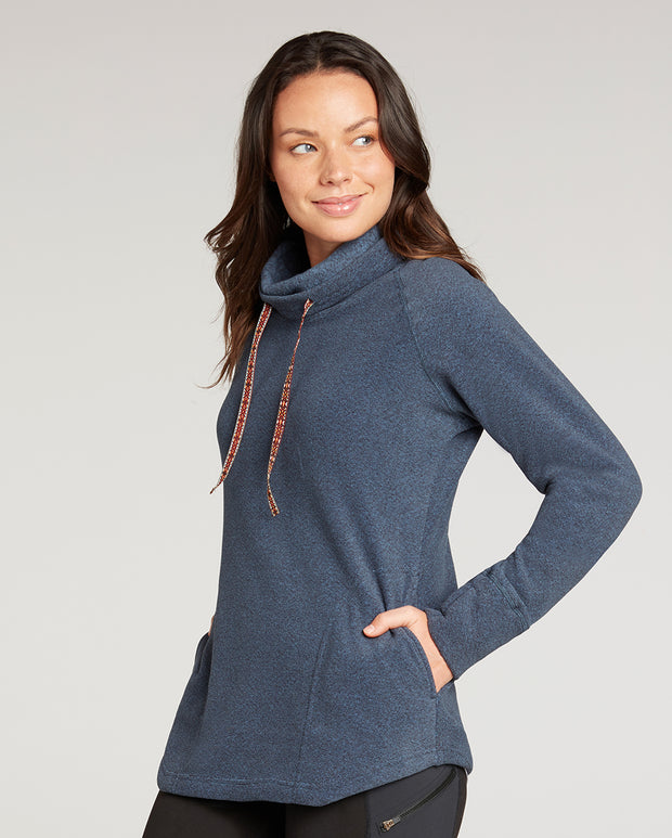 Rolpa Cowl-Neck Fleece Pullover