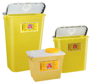 Yellow Chemo Containers