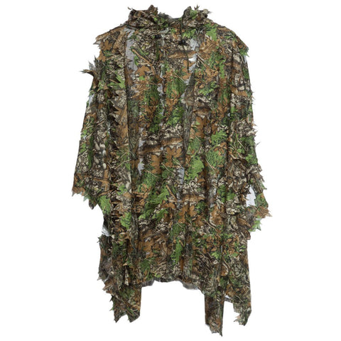 Hunting Ghillie Suit 3D Camo Bionic Leaf Camouflage Jungle Woodland Birdwatching Poncho Manteau Hunting Clothing Durable