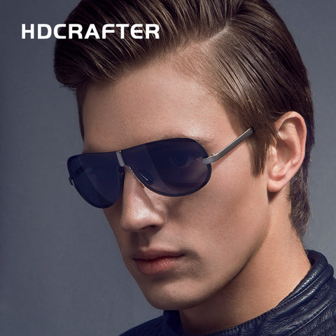 HDCRAFTER 2017 Brand Rimless Fashion Cool Sunglasses Polarized  100% UV400  protection  Oculos de sol masculino Outdoor Eyewear