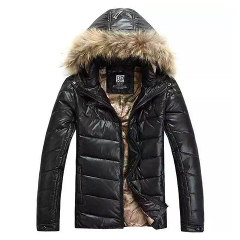 Free shipping 2017 New winter Male casual Down solid Parka  Hood Warm Windproof Winter Jacket Men solid Jacket  Size M-2XL