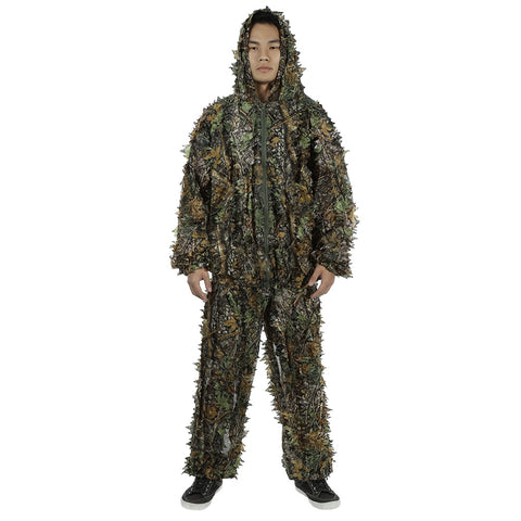 Hunting Clothes 3D Leafy Camouflage Jungle Bionic Suit Set for Outdoor Hunting
