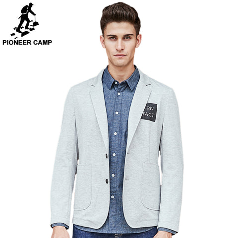 Pioneer Camp brand clothing blazer men high quality fashion casual blazer masculino slim fit designer comfort suit men 699075