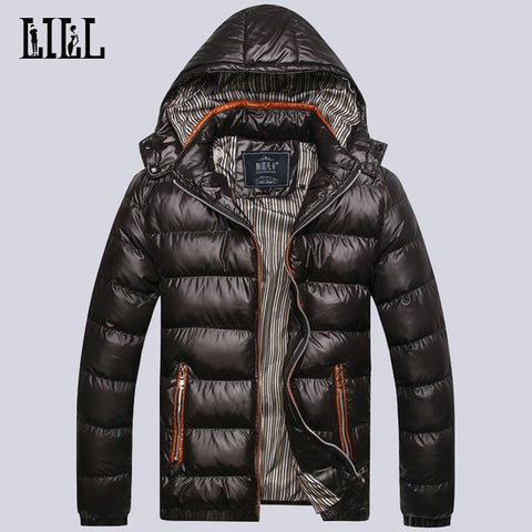 2016 Men's Winter Light Down Jackets Hooded Men Warm Thick Coats Mens Cotton-Padded Parka Male Casual Feather Jacket,UMA302