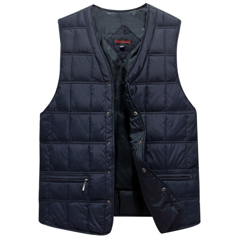 Winter Dresses Men White Duck Down Causal Vest Ultra Light Male Thick Sleeveless Down Jacket Men Warm Vest L-5XL Plus Size