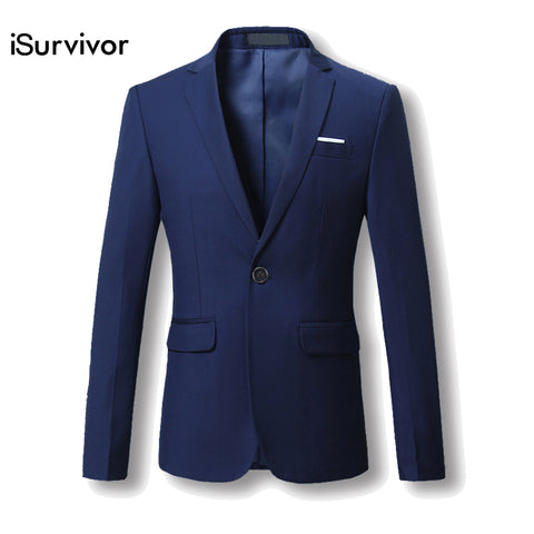 Men Blazer 2017 New Suit Men 5 Colors Casual Jacket Terno Masculino Latest Coat Designs Blazers Men Clothing Plus Size M-6XL