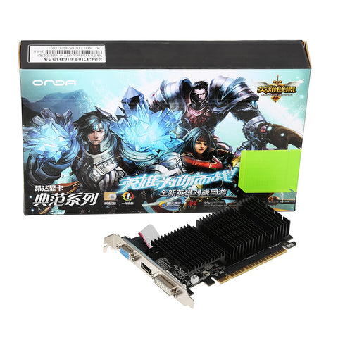 Original Onda NVIDIA GeForce GT 710 GPU 2GB DDR3 64bit PCI-E 2.0 Gaming Video cards Graphics Card Whisper Silent Cooling for LOL