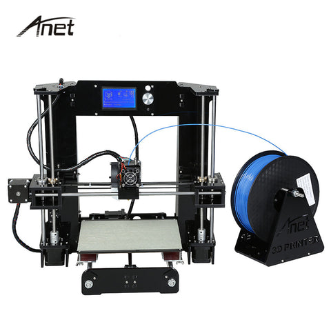 Easy Assemble Anet A6 A8 3D Printer Kit High Precision Reprap Prusa i3 DIY 3D Printing Machine+ Hotbed+Filament+SD Card+LCD