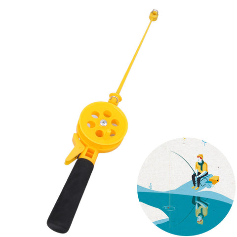 Free Express Shipping 2017 New Portable Mini Ice Fishing Rod 33cm 41g High Durable LightweightPlastic Children Fishing Pole With Reels Fishing Rod