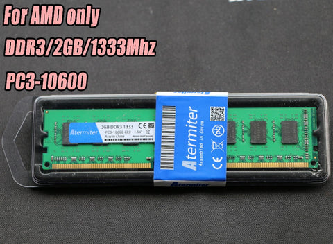 New 2GB DDR3 PC3-10600 1333MHz For Desktop PC DIMM Memory RAM 240 pins For AMD (SocketAM3 AM3+) System High Compatible 4GB