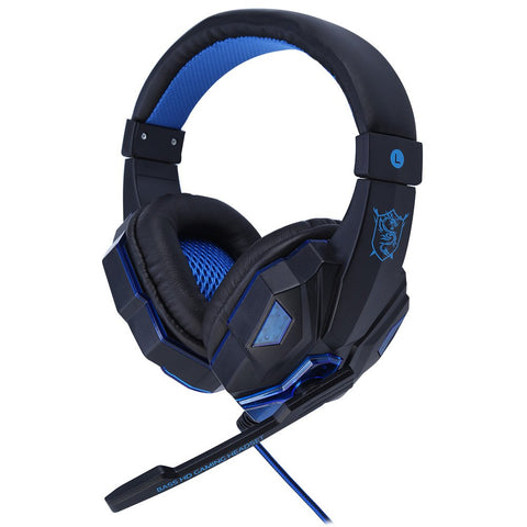 PC780 Stereo Gaming Big Headset with Microphone Wired Headsets with LED Light Voice Control Noise Cancelling Headphone