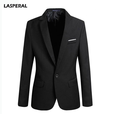 LASPERAL 2017 Hot Casual Jackets Coats Men Fashion Long Sleeve Turn Down Collar Jacket Male Suits Soild Slim Fit Coat Blazers