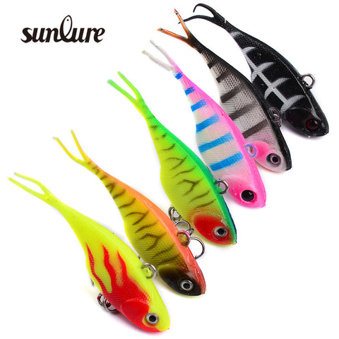 Mew High simulation VIB Fishing Lures Hard Bait With Lead Inside 1pcs 7.8cm/9g Fishing Wobblers Lead Fish Ice Sea Tackle ZB9023