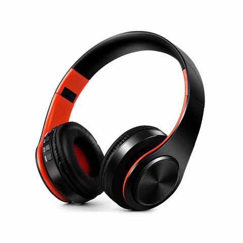 New Arrival colorful stereo Audio Mp3 Bluetooth Headset Foldable Wireless Headphones Earphone support SD card with Mic
