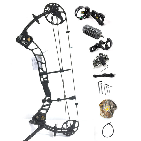 Topoint Archery Left hand bow, compound bow,With 20-70 lbs Draw Weight, black color for human outdoor hunting, Archery bow