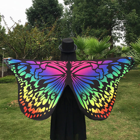 5 Colors Butterfly Wing Pashmina Women Scarves  Fashion Print Wraps Female Scarves and Shawls Cover for Travel Decoration