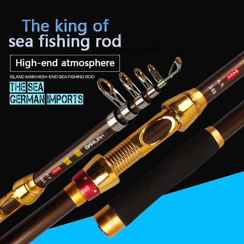 Free Express Shipping 2016 Fly Fishing Rod 2.1M-3.6M Superhard Carbon Portable Telescopic Fishing Rod Spinning Fish Hand Fishing Tackle Free shipping