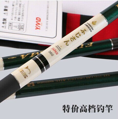 Free Express Shipping Japan imports CHPAFUJ Corrugated rod 2.7-7.2meters top carbon taiwan fishing rod ultra-light ultra-hard hand fishing tackle 118T